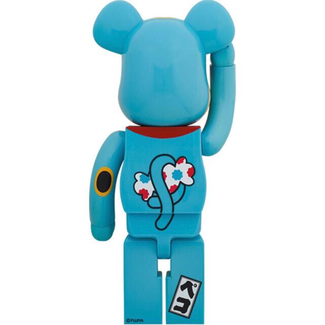 MEDICOM TOY(メディコムトイ)のBE@RBRICK 招き猫 ペコちゃん 青蓄光 1000% ハンドメイドのおもちゃ(フィギュア)の商品写真