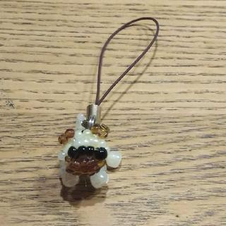 ビーズ ストラップ キーホルダー パグ 犬(キーホルダー)