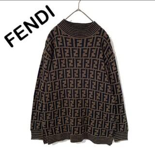 FENDI - FENDI フェンディ ズッカ柄 セーター ニット メンズ 総柄 ブラウン