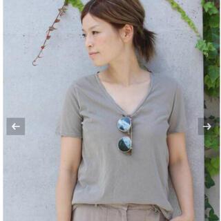 ドゥーズィエムクラス(DEUXIEME CLASSE)のGarnent Dye T shirt カーキ36(Tシャツ/カットソー(半袖/袖なし))