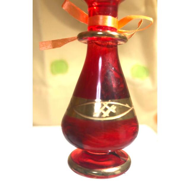 エジプシャングラス、エジプト香水瓶のハーバリウム ハンドメイドのフラワー/ガーデン(ドライフラワー)の商品写真