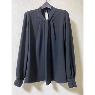 エムプルミエ(M-premier)のエムプルミエ ブラウス 38  ブラック(シャツ/ブラウス(長袖/七分))