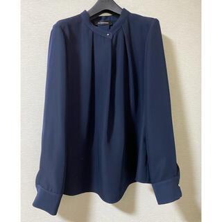 エムプルミエ(M-premier)のエムプルミ ブラウス 38 紺(シャツ/ブラウス(長袖/七分))