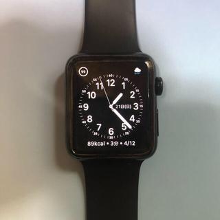 アップルウォッチ(Apple Watch)のアップルウォッチ2ブラックステンレス 42mm(その他)