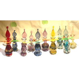 エジプシャングラス、エジプト香水瓶のハーバリウム(ドライフラワー)