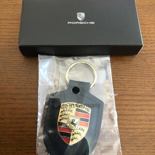 ポルシェ(Porsche)のポルシェ クレスト キーホルダー  ブラック(キーホルダー)