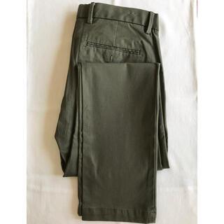 ギャップ(GAP)の【GAP】スリムストレッチパンツ ブラックモス メンズ W76cm    美品(チノパン)