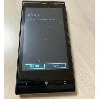 トウシバ(東芝)のau windowsフォンIS12T  ブラック 中古(スマートフォン本体)