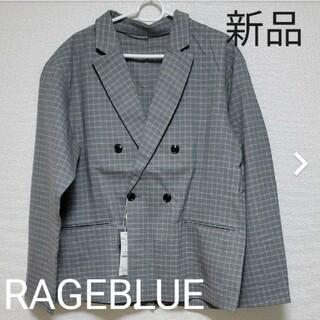 レイジブルー(RAGEBLUE)のグラフチェック柄テーラードジャケット 新品(テーラードジャケット)