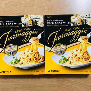 予約でいっぱいの店 トリュフときのこのクリームパスタソース 2箱(レトルト食品)