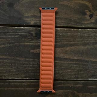 Apple Watch - Apple Watch オレンジブラウン レザーバンド