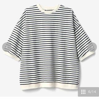 シマムラ(しまむら)のterawear emu ボーダーTシャツ 中青 L(Tシャツ(半袖/袖なし))