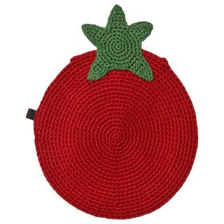 ボンポワン(Bonpoint)のOEUF ウフ かぎ針編み ストラップ パプリカバッグ レッド(その他)