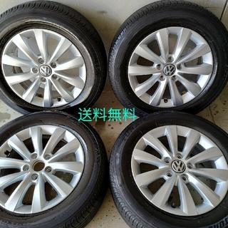 フォルクスワーゲン(Volkswagen)の送料無料 VW ザ・ビートル 純正アルミホイール 4本 215 16インチ(タイヤ・ホイールセット)