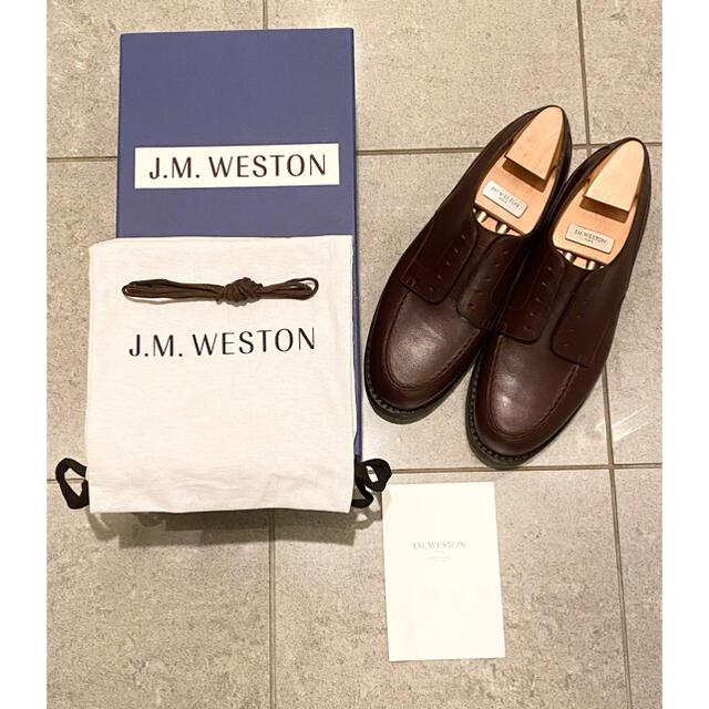 J.M. WESTON(ジェーエムウエストン)の【極美品】J.M.WESTON GOLF 641 ブラウン メンズの靴/シューズ(ドレス/ビジネス)の商品写真