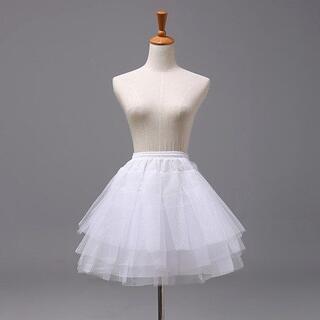 パニエ コスプレ衣装 45cm ホワイト(コスプレ用インナー)
