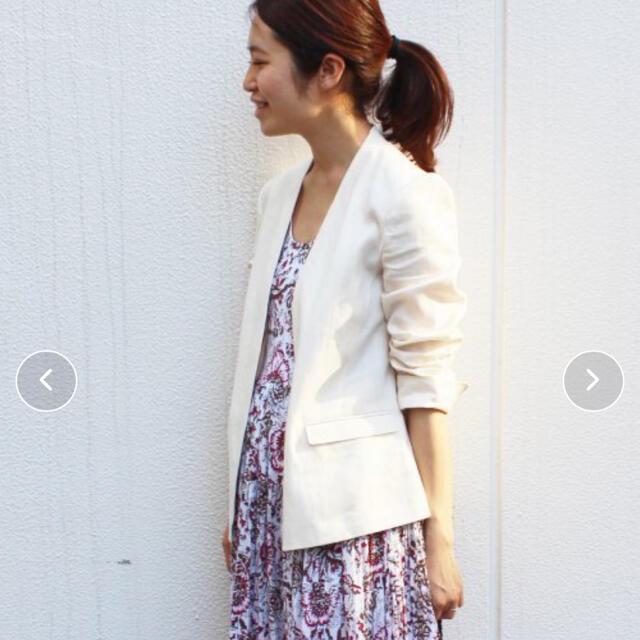 IENA(イエナ)のイエナ IENA  リネンジャケット レディースのジャケット/アウター(ノーカラージャケット)の商品写真