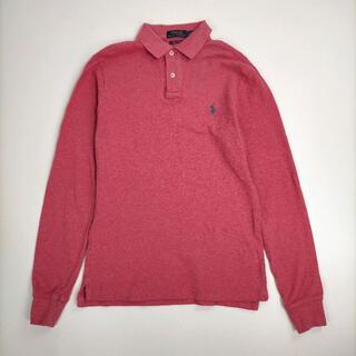 ポロラルフローレン(POLO RALPH LAUREN)のポロ ラルフローレン S/P ポロシャツ ピンク(レッド寄り) スリムフィット(ポロシャツ)