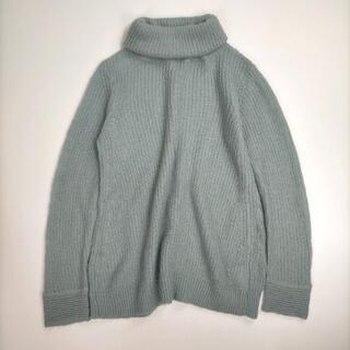 プラステ(PLST)のプラステ 2 セーター グリーン くすみカラー タートルネック トップス 長袖 (ニット/セーター)