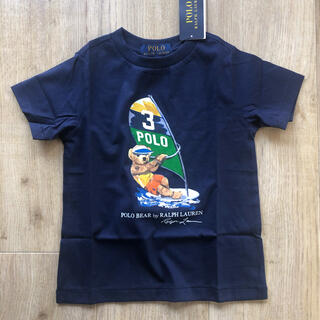 ラルフローレン(Ralph Lauren)のまとめ割適応★靴下 ポロベア サーフィン ネイビー Tシャツ 100 子供服(Tシャツ/カットソー)