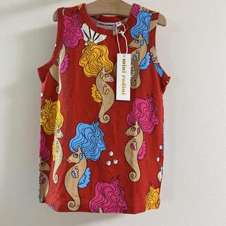 コドモビームス(こども ビームス)のミニロディーニ mini rodini 110.120☺︎タツノオトシゴ柄タンク(Tシャツ/カットソー)