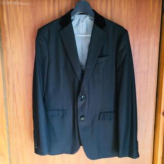 エービーエックス(abx)の【新品未使用】abx テーラードジャケット ブラック XL ベルベット(テーラードジャケット)