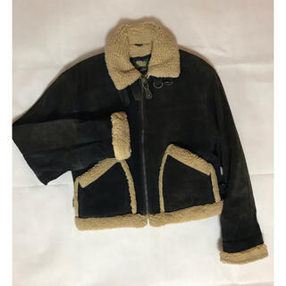 Saint Laurent - mouton leather jacket ムートン レザージャケット