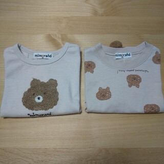 しまむら - ミモランド くま Tシャツ 2枚セット 80cm