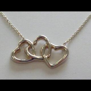 ティファニー(Tiffany & Co.)のTIFFANY&Co トリプルハート ネックレス シルバー 925 ティファニー(ネックレス)