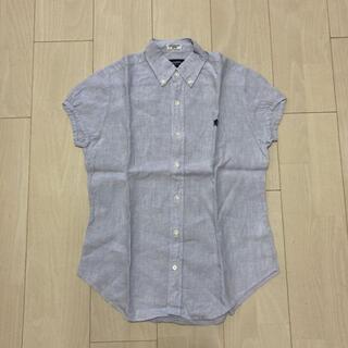 ジムフレックス(GYMPHLEX)のジムフレックス フレンチスリーブシャツ リネン(シャツ/ブラウス(半袖/袖なし))