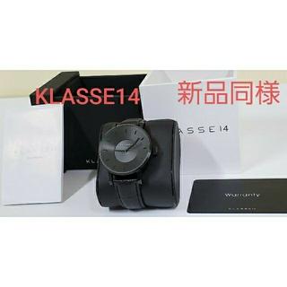 KLASSE14 新品同様 腕時計 ブラック アナログ カード 箱 クラス14(腕時計(アナログ))