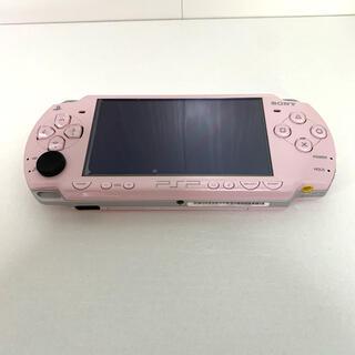 プレイステーションポータブル(PlayStation Portable)のPSP 2000 うたプリ ステッカー 仕様 ピンク(携帯用ゲームソフト)