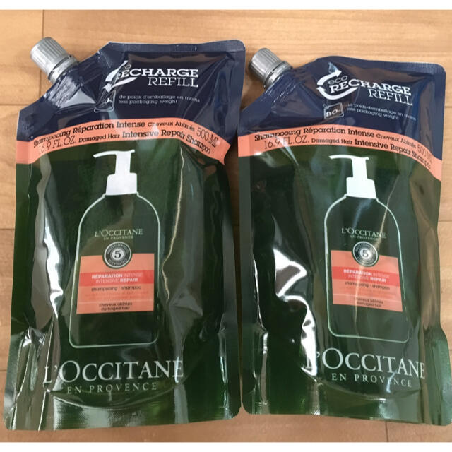 L'OCCITANE(ロクシタン)の2本ロクシタン ファイブハーブスリペアリングシャンプー   レフィル 最安値 コスメ/美容のヘアケア/スタイリング(シャンプー)の商品写真