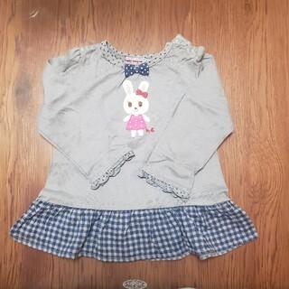 ミキハウス(mikihouse)のミキハウス ロンT 90 グレー(Tシャツ/カットソー)
