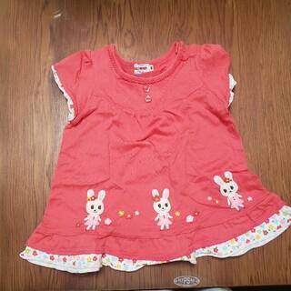 ミキハウス(mikihouse)のミキハウス チュニック 赤 90(Tシャツ/カットソー)