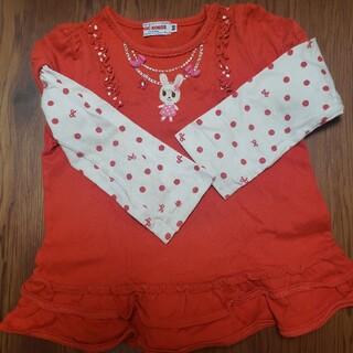 ミキハウス(mikihouse)のミキハウス ロンT 赤 90(Tシャツ/カットソー)