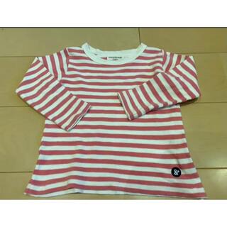 アンパサンド(ampersand)のロンT  ピンク カットソー トップス 長袖 ボーダー 100(Tシャツ/カットソー)