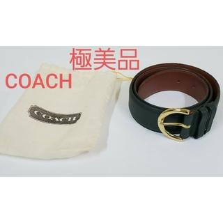 コーチ(COACH)のCOACH 極美品 レザー ベルト コーチ グリーン レディース メンズ 正規(ベルト)