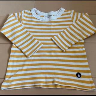アンパサンド(ampersand)のロンT  黄色 カットソー トップス 長袖 ボーダー 100(Tシャツ/カットソー)