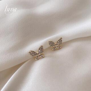 アーカー(AHKAH)の☆Butterfly chain pierce☆s925 post gold(ピアス)
