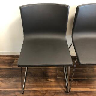 イケア(IKEA)のIKEA ベルナード 椅子2脚セット ダークブラウン(ダイニングチェア)
