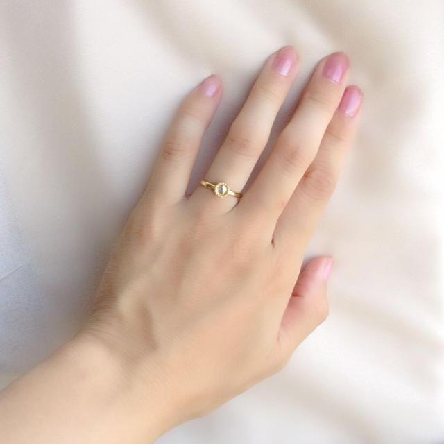 ゴールドの天使の輪のリング✳︎指輪✳︎ ハンドメイドのアクセサリー(リング)の商品写真