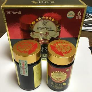 高麗人参 6年根 紅蔘 ゴールド濃縮液 エキス240g2本セット(健康茶)