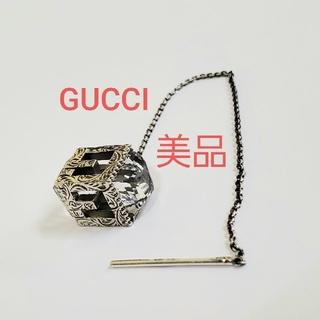 グッチ(Gucci)のGUCCI 美品 入手困難 ピアス クリスタル Gロゴ 925 片耳のみ グッチ(ピアス)