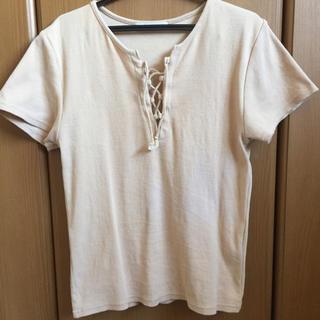 スライ(SLY)のSLY レースアップテレコTシャツ(Tシャツ(半袖/袖なし))