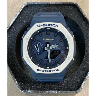 カシオ(CASIO)のG-SHOCK GA-2110ET-2A カシオーク ネイビー  美品(腕時計(デジタル))