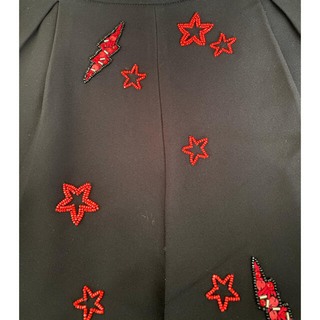 ミュウミュウ(miumiu)のmiumiu スター 星 ビーズ装飾 パンツ(ショートパンツ)