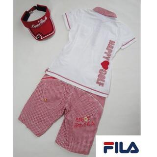 フィラ(FILA)の【上下セット】◆FILA◆ホワイト シャツ ギンガムチェック パンツ(ウエア)