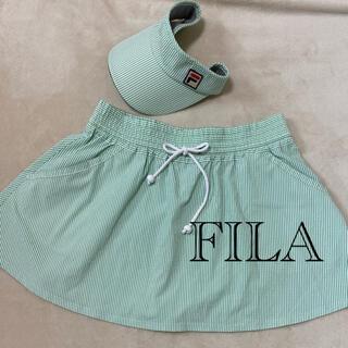 フィラ(FILA)のFILA スコートとサンバイザーのセット。* ゚ + 。・゚・。・(ウェア)