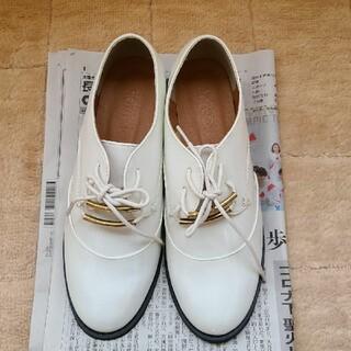 ティティベイト(titivate)のホワイト 編み上げ シューズ(ローファー/革靴)